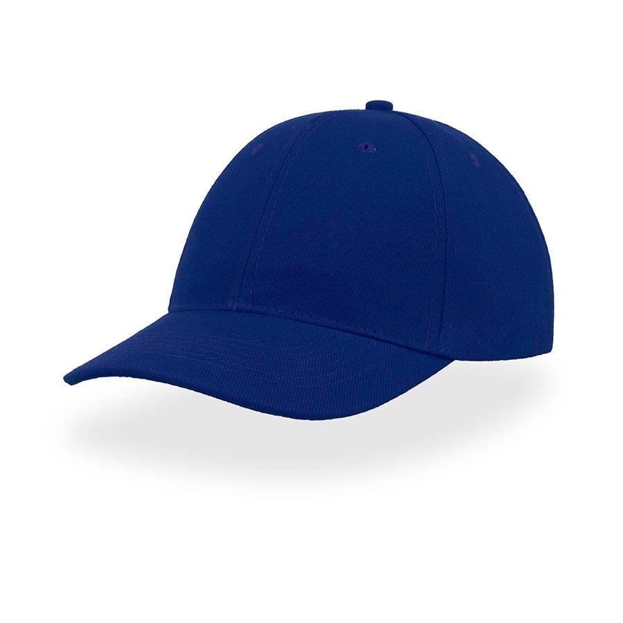 "Бейсболка ""LIBERTY SIX"", 6 клиньев, застежка на липучке, ярко-синий, 100% хлопок; плотность 250 г/м2"