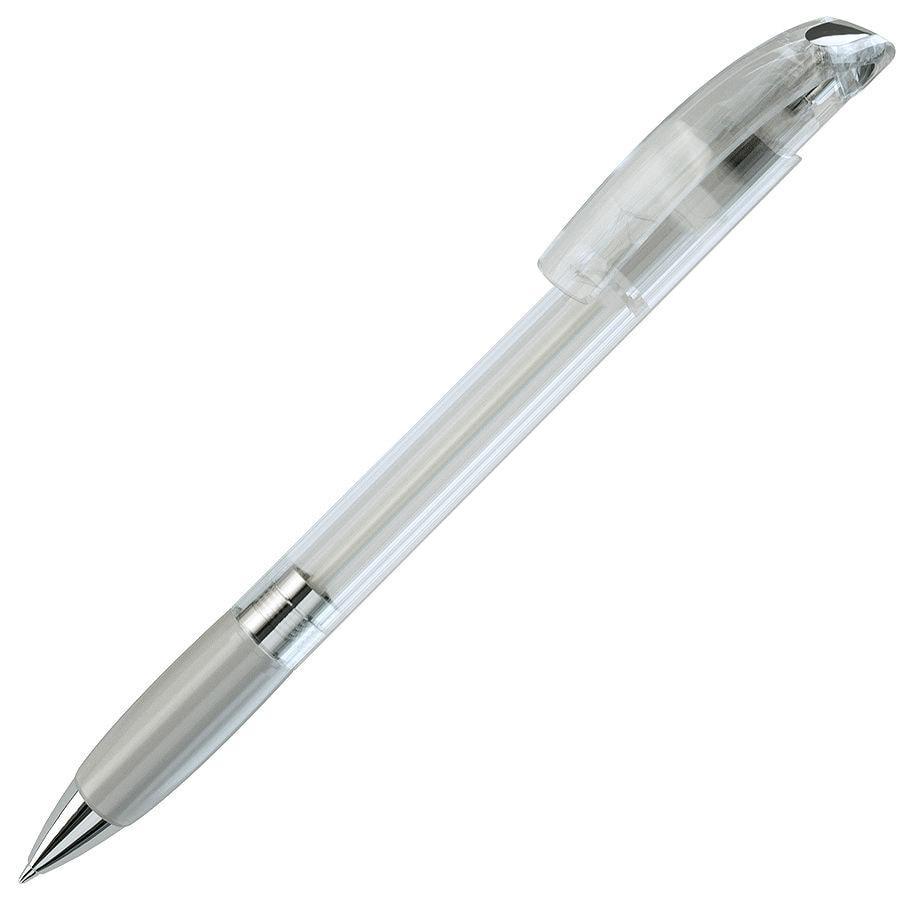 NOVE LX, ручка шариковая с грипом, прозрачный белый/хром, пластик