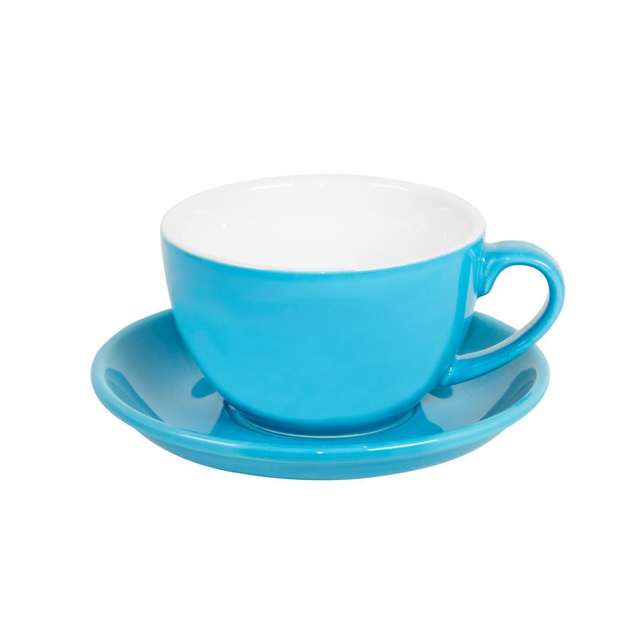 Чайная/кофейная пара CAPPUCCINO, голубой, 260 мл, фарфор