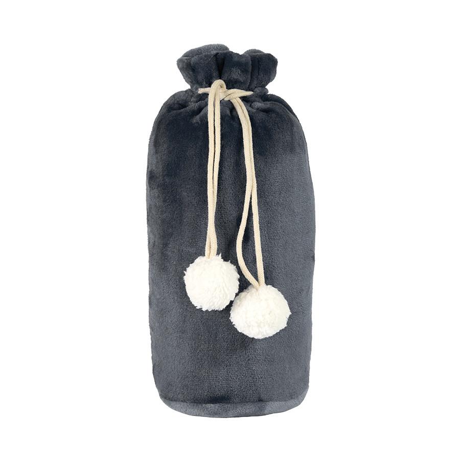 Плед GRADIENT в подарочном мешке; серый; 130х150 см; фланель 280 гр/м2