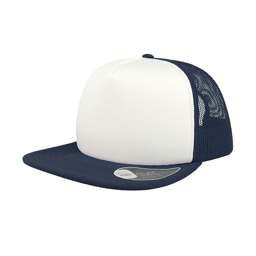 """Бейсболка """"SNAP 90S"""", 5 клиньев, пластиковая застежка, темно-синий, белый,100 %полиэстер,80 г/м2"""