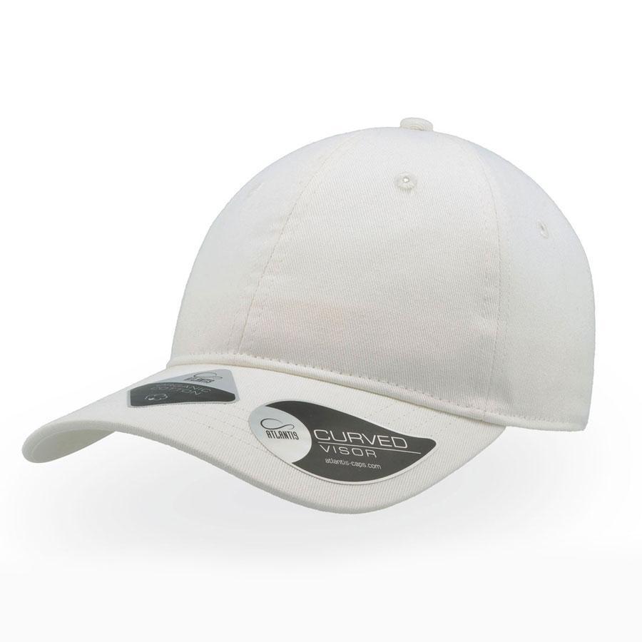 """Бейсболка """"GREEN CAP"""", 6 клиньев, метал. застежка, белый, 100% органич. хлопок, плотность 265 г/м2"""