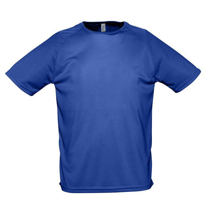 "Футболка ""Sporty"", ярко-синий_XL, 100% воздухопроницаемый полиэстер, 140 г/м2"