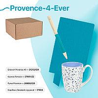 Набор подарочный PROVENCE-4-EVER: бизнес-блокнот, ручка, кружка, коробка, стружка, голубой