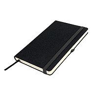 Бизнес-блокнот OXI, A5, черный, твердая обложка, RPET, в линейку