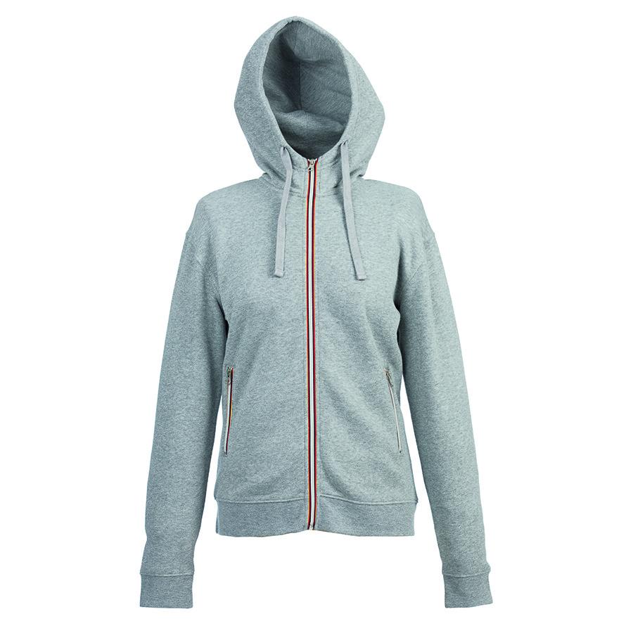 """Толстовка женская """"LAS VEGAS LADY"""", серый меланж, XL, 65% полиэстер, 35% хлопок, 280 г/м2"""