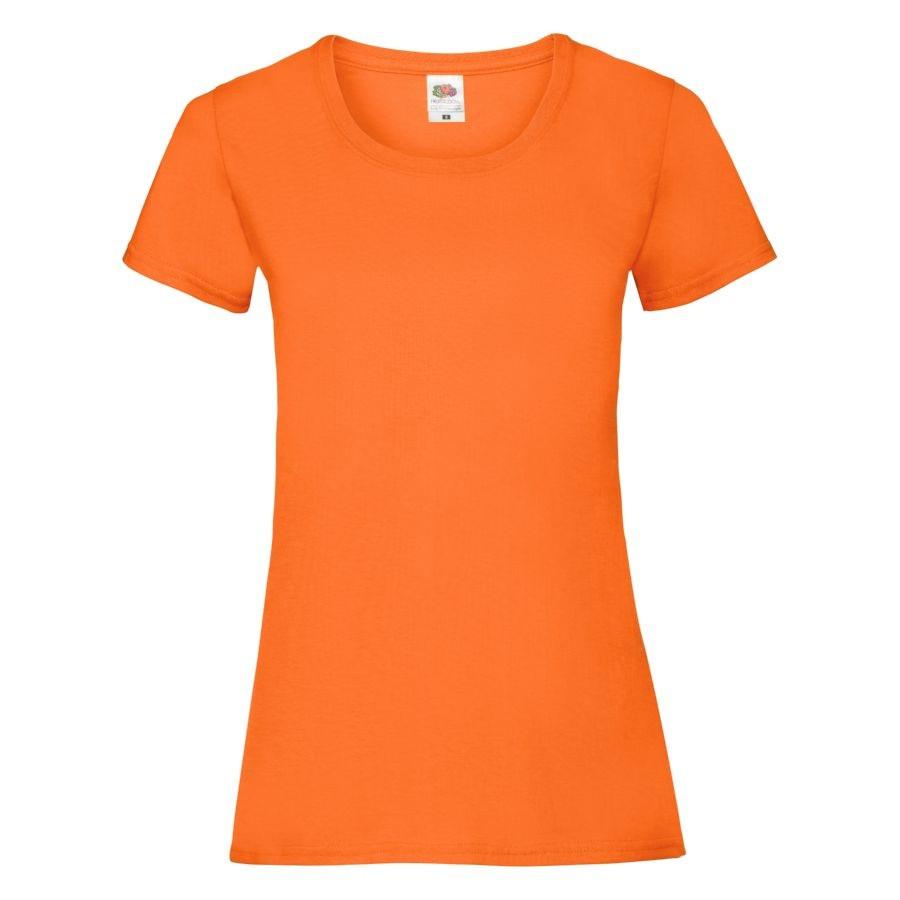 "Футболка ""Lady-Fit Valueweight T"", оранжевый_XS, 100% хлопок, 165 г/м2"