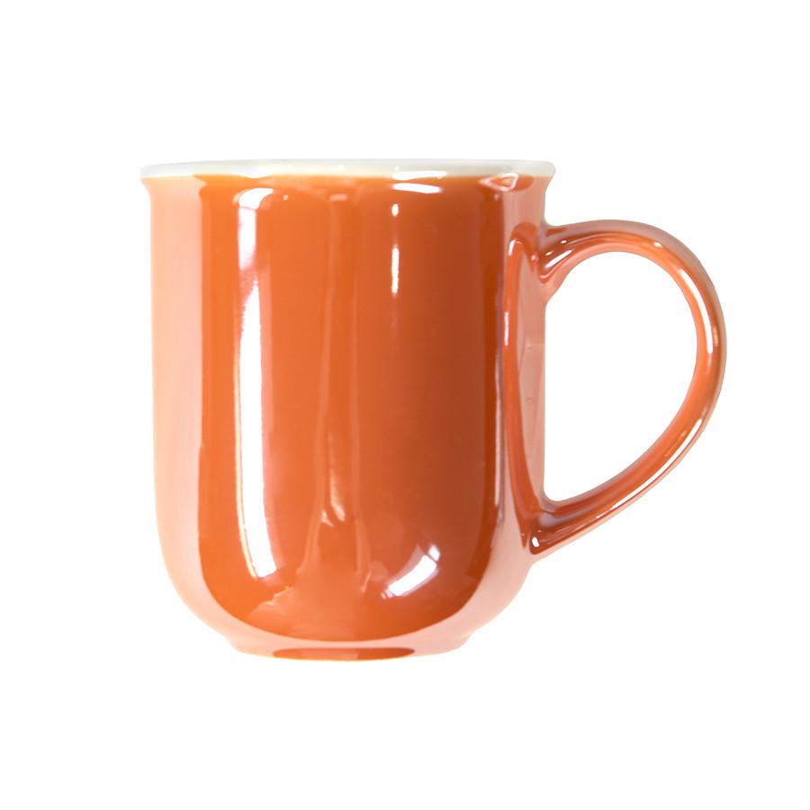 Кружка PERLA, оранжевый с белым, 350мл, фарфор