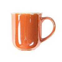 Кружка PERLA, оранжевый с белым, 350мл, фарфор, фото 1