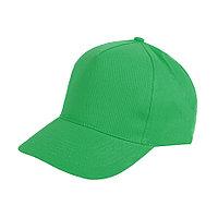 """Бейсболка """"Hit"""", 5 клиньев,  застежка на липучке; зеленый; 100% п/э; плотность 135 г/м2"""