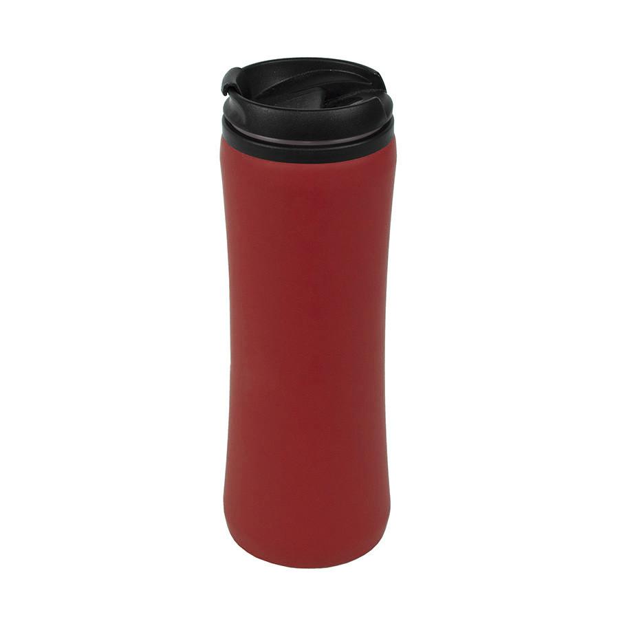Термокружка FLOCK;  450 мл; красный; пластик/металл