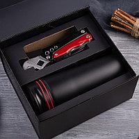 Набор подарочный RAYMAN: термокружка, мультиинструмент, коробка, черный, красный