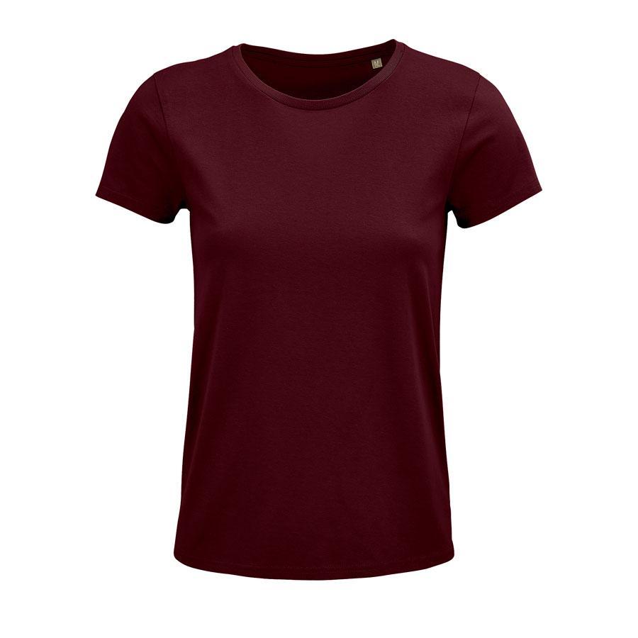 """Футболка женская """"CRUSADER WOMEN"""", бордовый, M, 100% органический хлопок, 150 г/м2"""