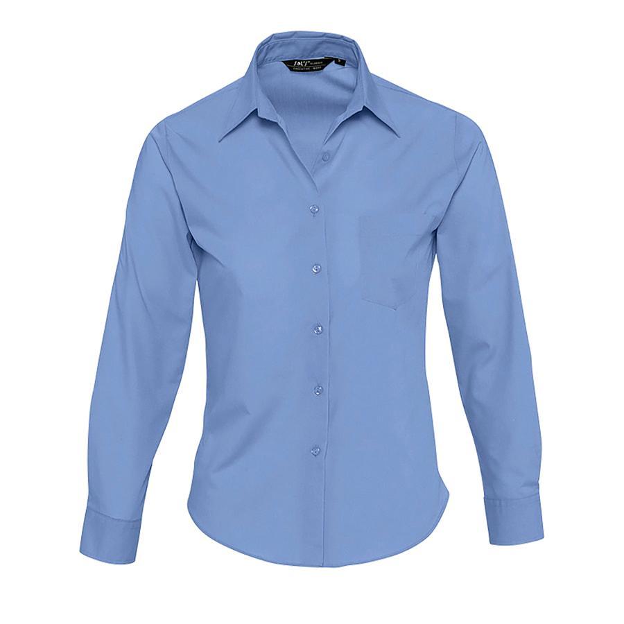 """Рубашка""""Executive"""", васильковый_M, 65% полиэстер, 35% хлопок, 105г/м2"""