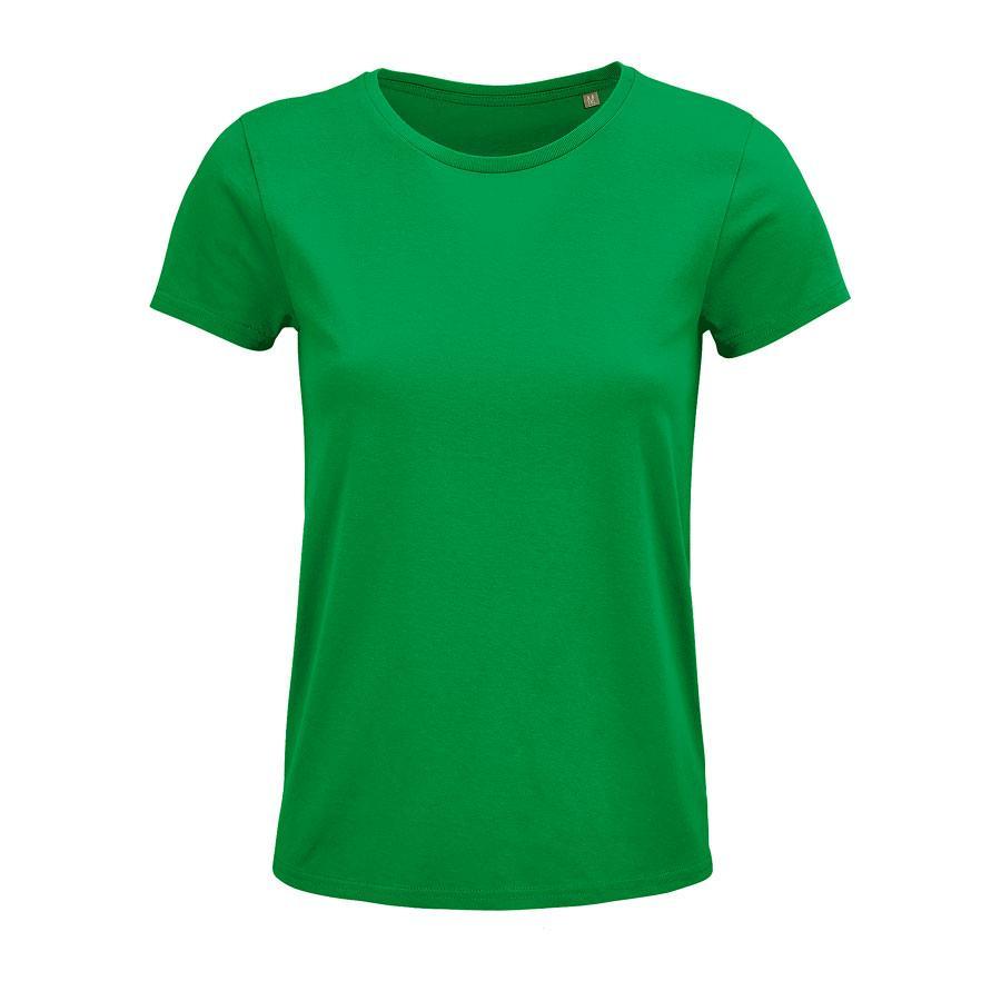 """Футболка женская """"CRUSADER WOMEN"""", ярко-зеленый, L, 100% органический хлопок, 150 г/м2"""