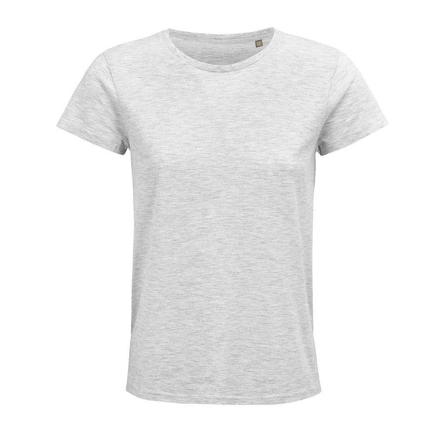 """Футболка женская """"CRUSADER WOMEN"""", св.серый меланж, S, 100% органический хлопок, 150 г/м2"""
