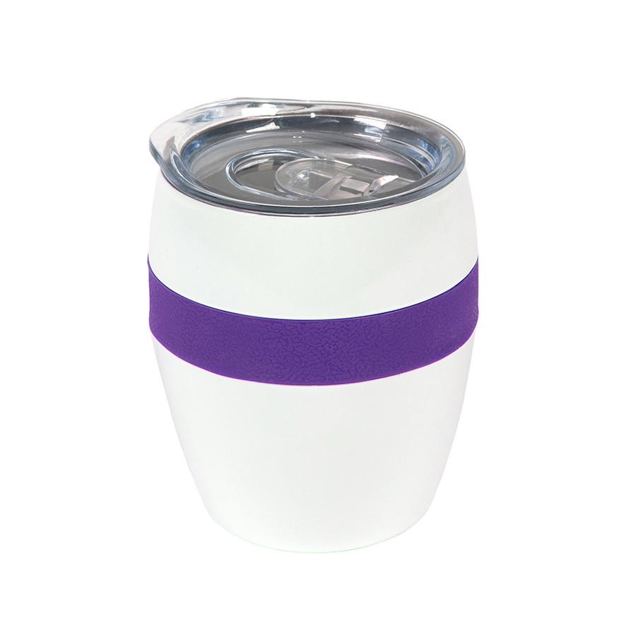 Термокружка LINE, белый/фиолетовый, сталь, 300 мл