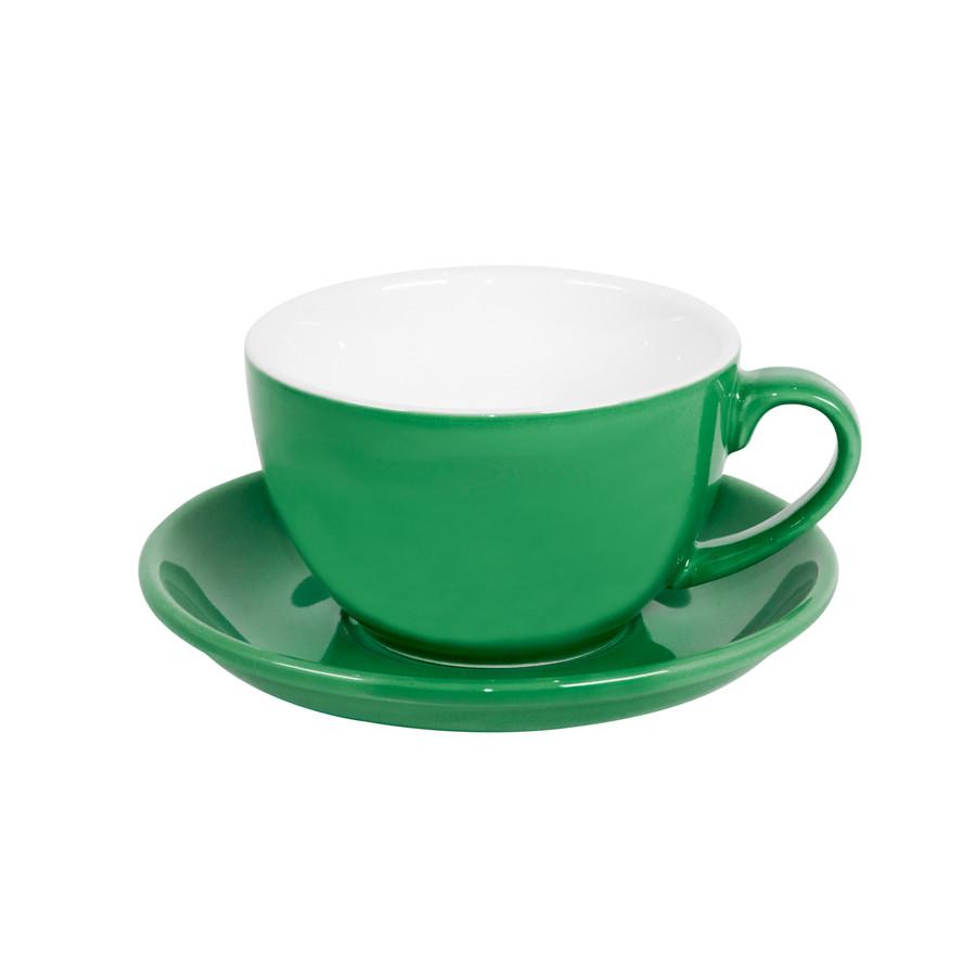 Чайная/кофейная пара CAPPUCCINO, зеленый, 260 мл, фарфор