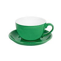 Чайная/кофейная пара CAPPUCCINO, зеленый, 260 мл, фарфор, фото 1