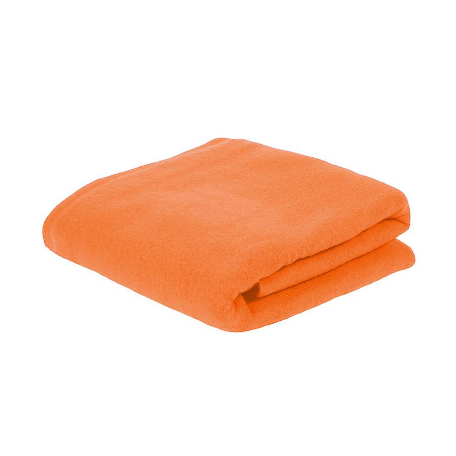 Плед PLAIN; оранжевый; 100х140 см; флис 150 гр/м2