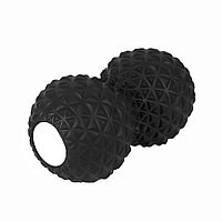 Массажер PEANUT, черный, 9x16,5 см, полиуретан, фото 1