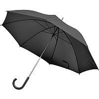 Зонт-трость с пластиковой ручкой, механический; черный; D=103 см; нейлон; шелкография, фото 1
