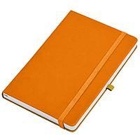 """Бизнес-блокнот А5 """"Silky"""", оранжевый, твердая обложка, в клетку"""