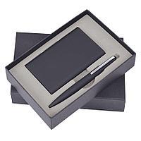 """Набор """"Mirror"""": Универсальный аккумулятор (6000мАh) и ручка, черный, 17,5х11х4см, металл, шт"""