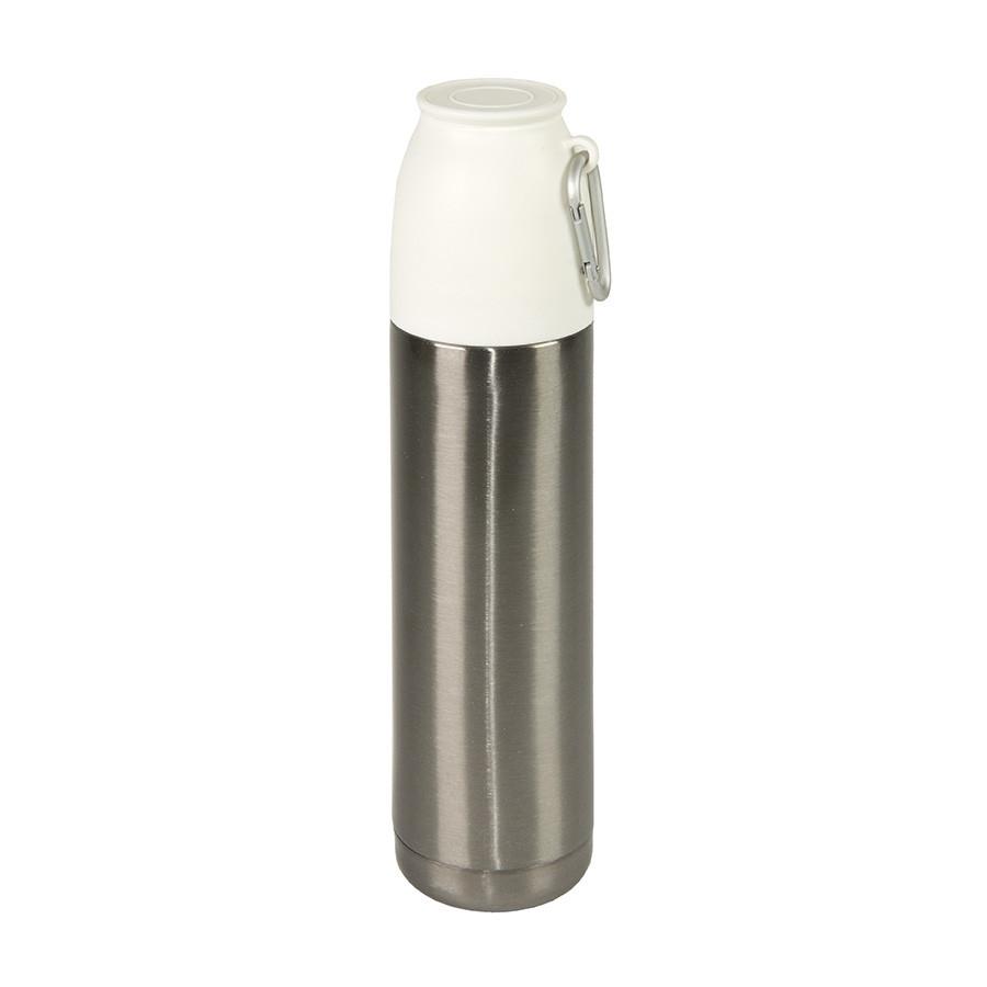 Термос вакуумный ESCAPE, с карабином, сталь, серебряный, 500 мл