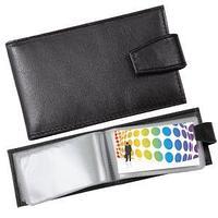 Визитница (40 визиток); черный; 10,8х6,5 см; кожа