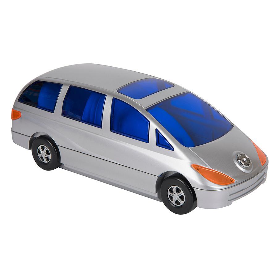 """CD-холдер """"Автомобиль"""" для 80 дисков; серебристый; 34,5х14,4х12,5 см; пластик"""