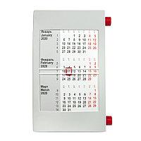Календарь настольный на 2 года; серый с красным; 18х11 см; пластик, фото 1