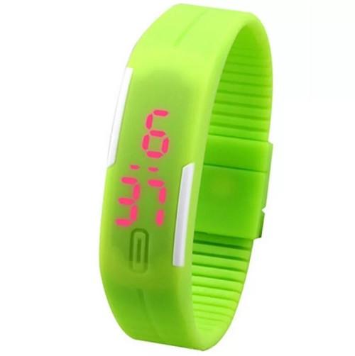 Часы наручные электронные A-WATCH в пластиковой коробке, цвет зеленый