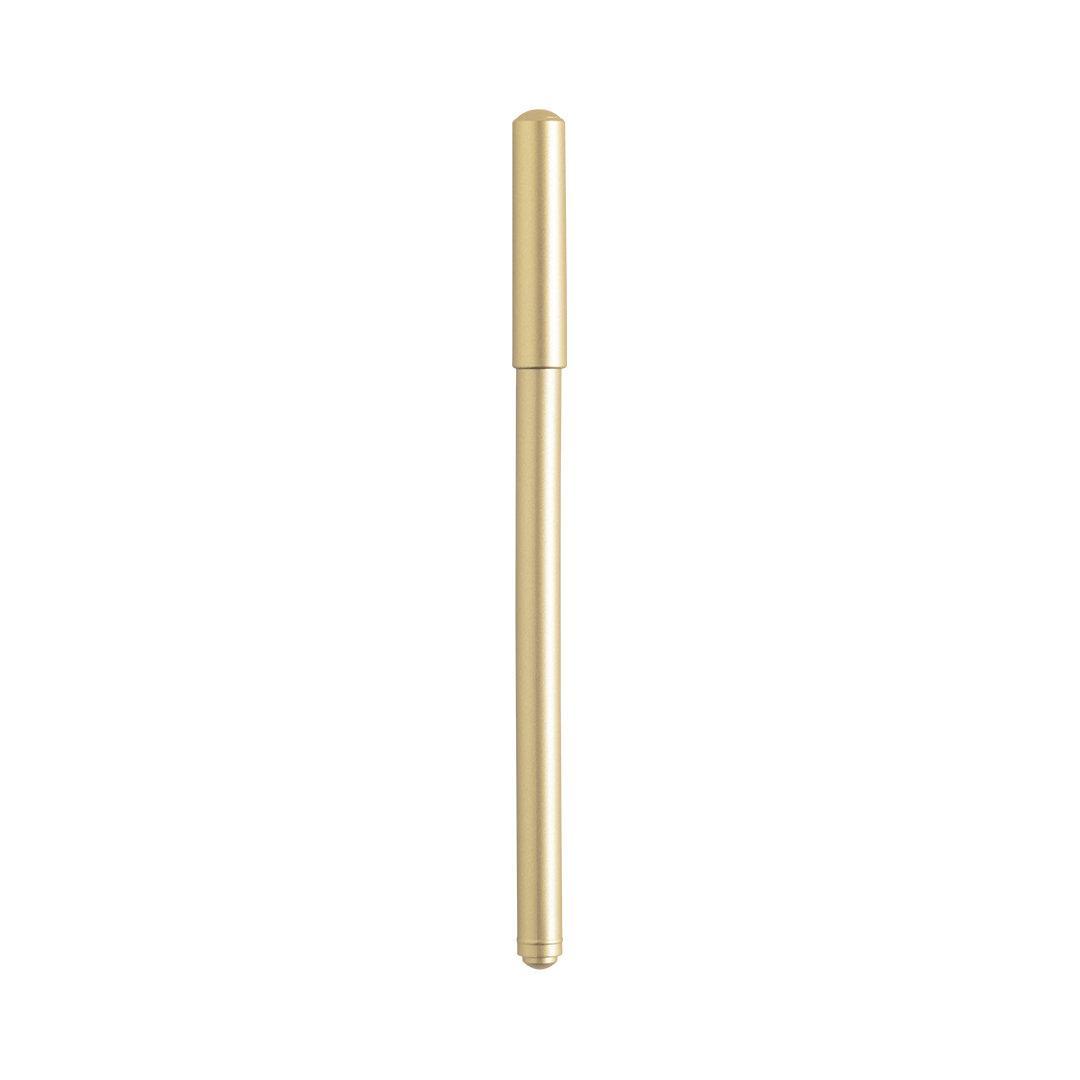 Шариковая ручка DELRAY с колпачком, золотой, пластик