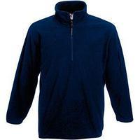 """Толстовка """"Half Zip Fleece"""", глубокий темно-синий_XL, 100% п/э, 250 г/м2"""