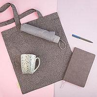 Набор подарочный DUSTYROSE: кружка, ручка, зонт, бизнес-блокнот, сумка, серый/голубой