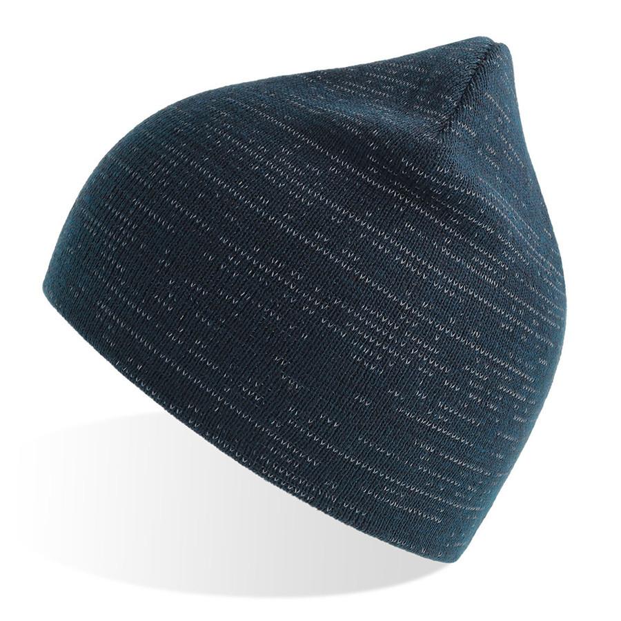 """Шапка вязаная """"SHINE"""" светоотражающая, темно-синий, 50% переработанный полиэстер, 50% акрил"""