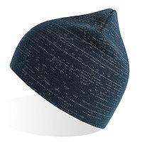 """Шапка вязаная """"SHINE"""" светоотражающая, темно-синий, 50% переработанный полиэстер, 50% акрил, фото 1"""