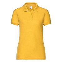 """Поло """"Lady-Fit 65/35 Polo"""", солнечно-желтый_L, 65% п/э, 35% х/б, 180 г/м2, фото 1"""
