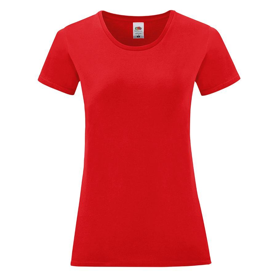 "Футболка ""Ladies Iconic"", красный, XS, 100% хлопок, 150 г/м2"