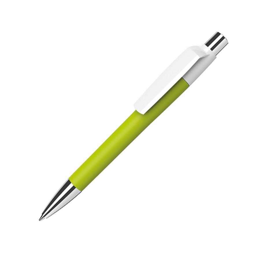Ручка шариковая MOOD, покрытие soft touch, зеленое яблоко, пластик, металл