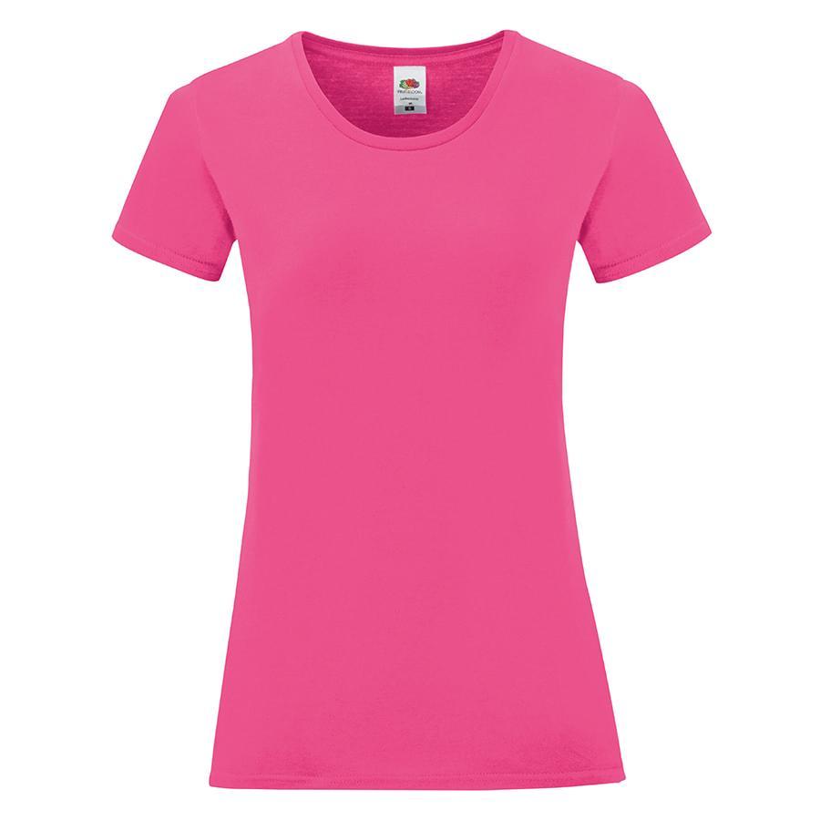 "Футболка ""Ladies Iconic"", ярко-розовый, L, 100% хлопок, 150 г/м2"