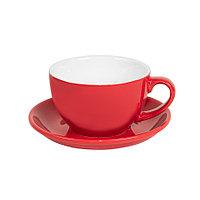 Чайная/кофейная пара CAPPUCCINO, красный, 260 мл, фарфор