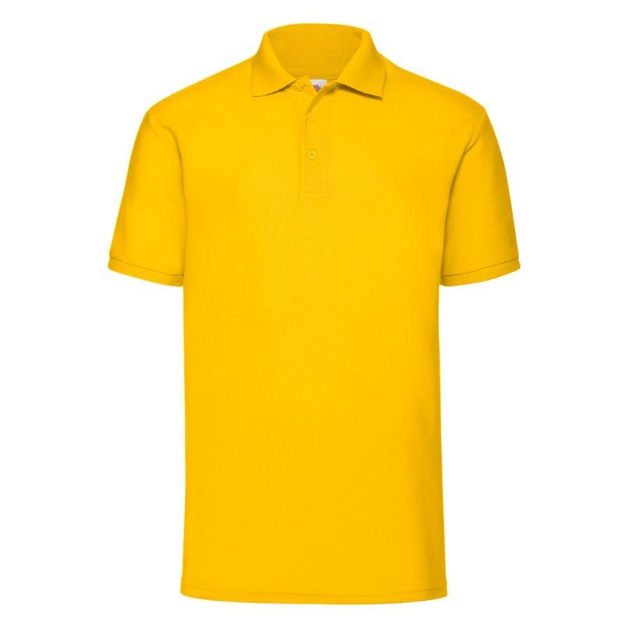 """Поло """"65/35 Polo"""", солнечно-желтый_S, 65% п/э, 35% х/б, 180 г/м2"""