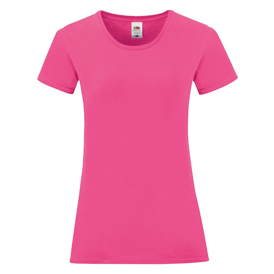"""Футболка """"Ladies Iconic"""", ярко-розовый, M, 100% хлопок, 150 г/м2"""