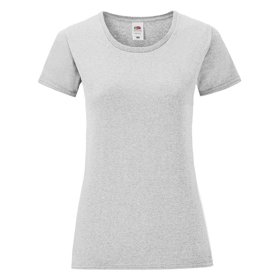 "Футболка ""Ladies Iconic"",  серый меланж, M, 97% х/б, 3% полиэcтер, 150г/м2"