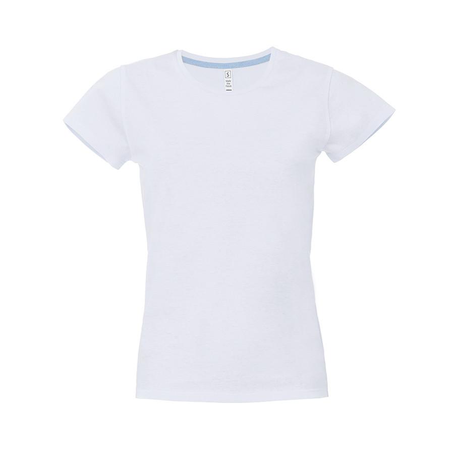 """Футболка женская """"California Lady"""", белый, M, 100% хлопок, 150 г/м2"""