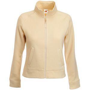 """Толстовка """"Lady-Fit Sweat Jacket"""", цвет слоновой кости_L, 75% х/б, 25% п/э, 280 г/м2"""