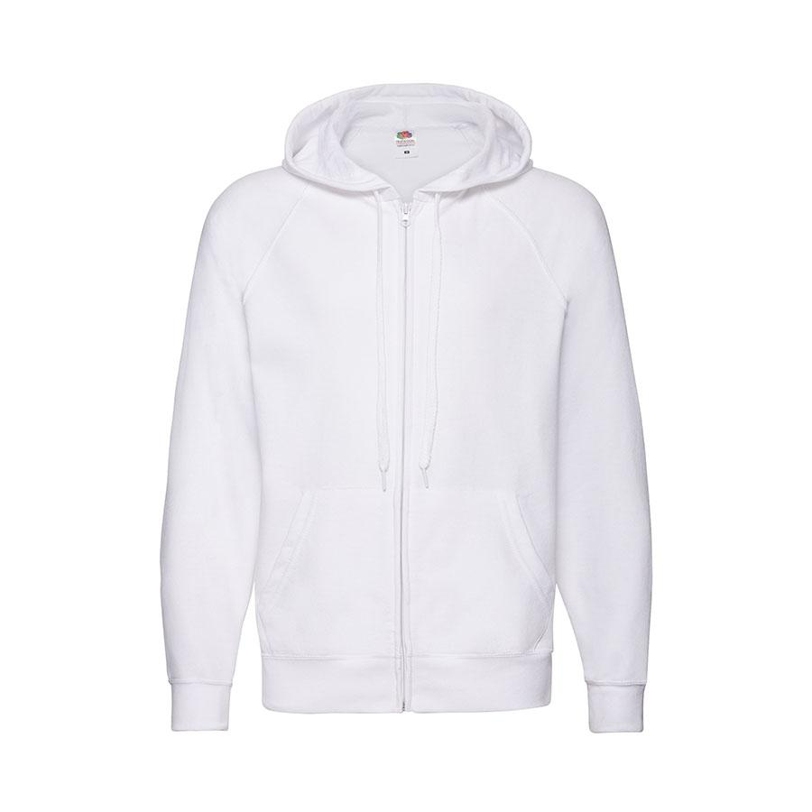 "Толстовка без начеса ""Lightweight Hooded Sweat"",  белый, XL, 80% х/б 20% полиэстер, 240 г/м2"