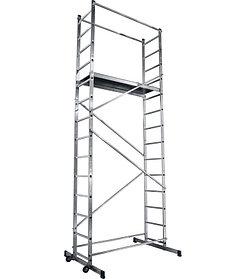 Вышка-тура Сибин,высота платформы 305 см.(макс. 510 см.), алюминий, максимальная нагрузка 150 кг (38840-5)